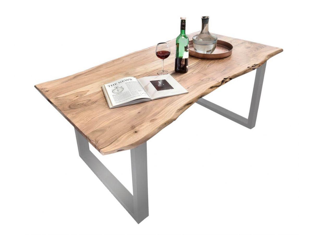 Table 140 x 80 cm GIULIA bois massif clair