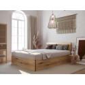 Lit coffre 140x190 cm JULIEN bois rustique