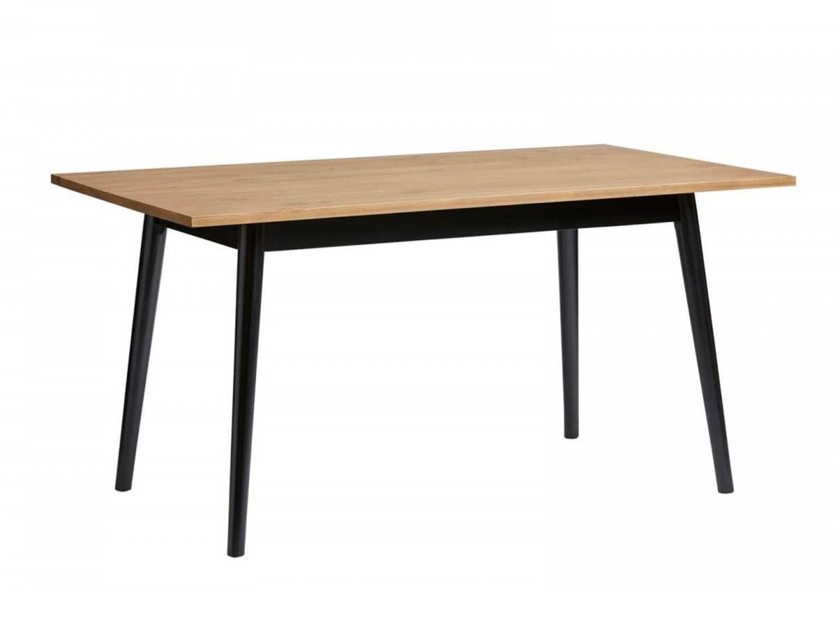 Table KATIO noir/bois clair