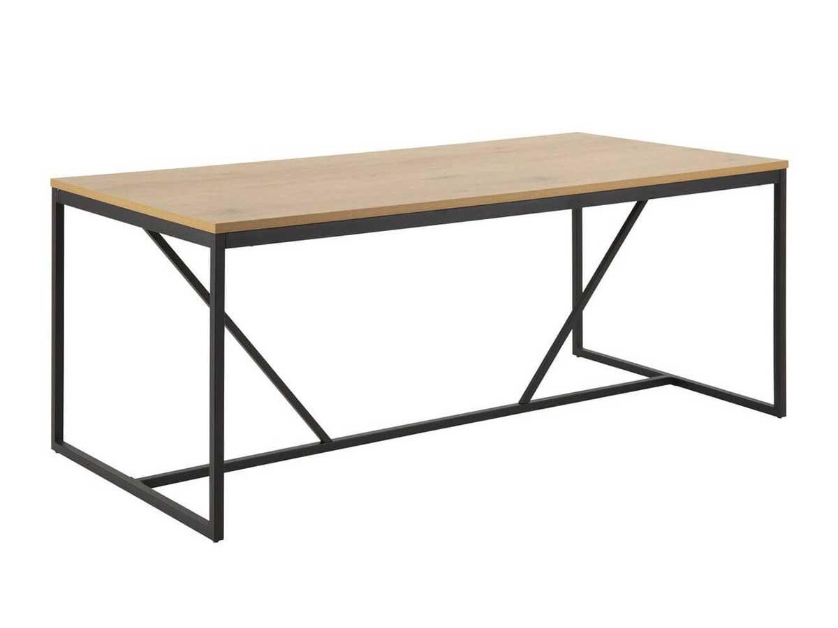 Table à manger 180 cm RAVEN chêne structure métal