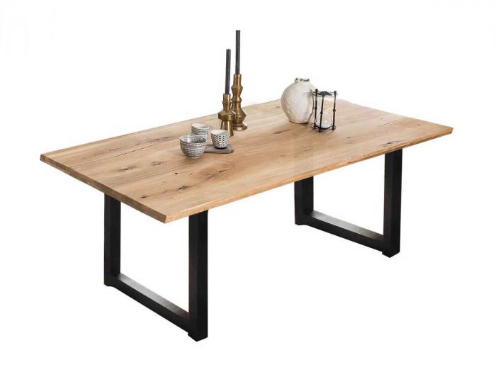 Table LOUTRI 220 x 100 cm chêne sauvage huilé