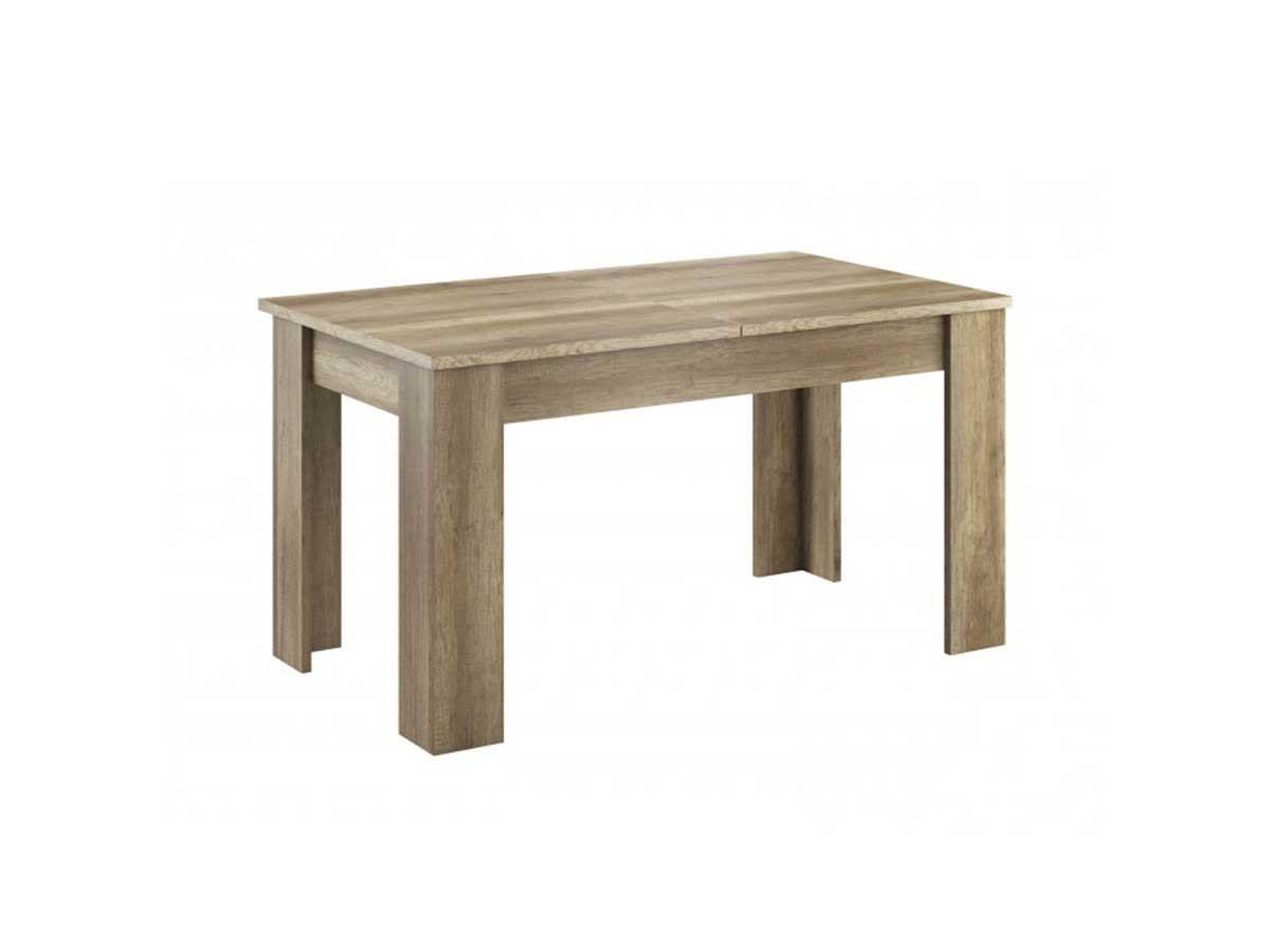Table de repas extensible SKYLINE Chêne blanchi 140 x 80