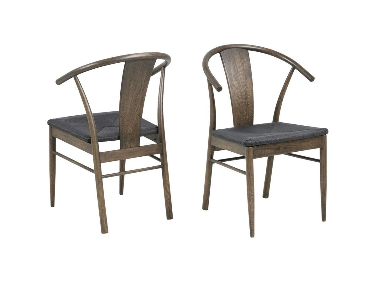 Lot de 2 chaises JANINE noir