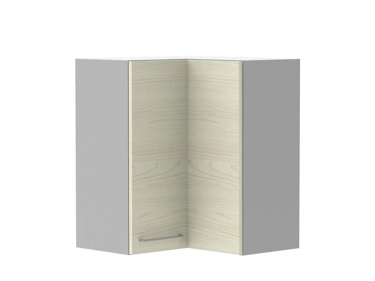 Meuble haut d'angle 60x60 cm avec 2 portes KARIO