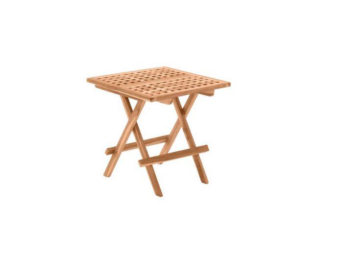 Table de jardin pliable PIRINEAS bois clair naturel