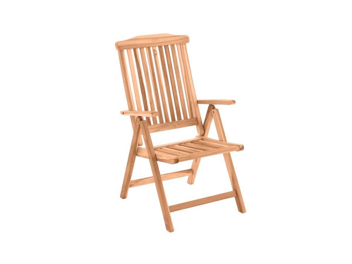 Chaise pliante PIRINEAS bois clair naturel