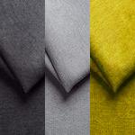 Gris foncé, gris clair et jaune