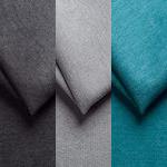 Gris foncé, gris clair et bleu